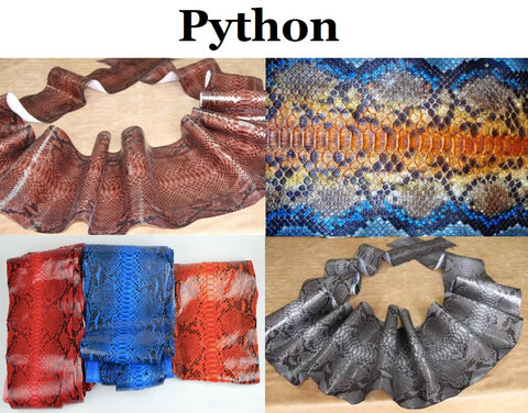 Photo: Shutterstock - python leather types