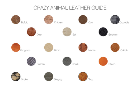 types of leather skins