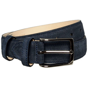 30 mm Sartorial Suede Belt Navy Apparel Accessories LCS