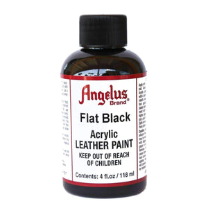 Angelus Acrylic Flat Leather Paint 4 oz Paint & Dye Angelus Flat Black