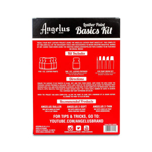 Angelus Leather Paint Starter Kit with Deglazer and Brush set Paint & Dye Angelus