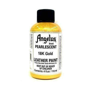 Angelus Pearlescent Leather Acrylic Paint - 4 Oz w/Applicator Paint & Dye Angelus 18k Gold