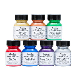 Angelus Pearlescent Leather Acrylic Paint Complete 1 Oz Kit Paint & Dye Angelus