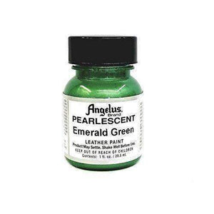 Angelus Pearlescent Leather Paint - 1 Oz w/Applicator Paint & Dye Angelus Emerald Green
