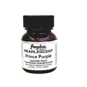Angelus Pearlescent Leather Paint - 1 Oz w/Applicator Paint & Dye Angelus Prince Purple