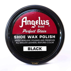 Angelus Perfect Stain Shoe Wax Polish 3 oz Shoe & Leather Care Angelus Black
