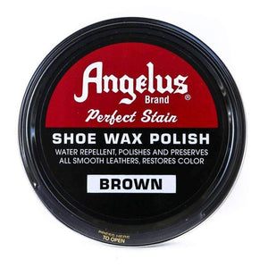 Angelus Perfect Stain Shoe Wax Polish 3 oz Shoe & Leather Care Angelus Brown