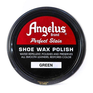 Angelus Perfect Stain Shoe Wax Polish 3 oz Shoe & Leather Care Angelus Green