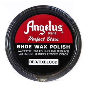 Angelus Perfect Stain Shoe Wax Polish 3 oz Shoe & Leather Care Angelus Red/Oxblood