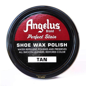 Angelus Perfect Stain Shoe Wax Polish 3 oz Shoe & Leather Care Angelus Tan
