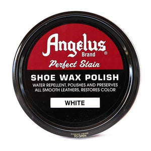 Angelus Perfect Stain Shoe Wax Polish 3 oz Shoe & Leather Care Angelus White