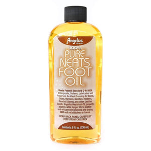 Angelus Pure Neats Foot Neatsfoot Oil Liquid Compound Leather Waterproof 8 oz Shoe & Leather Care Angelus