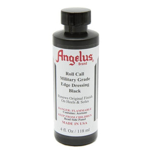Angelus Roll Call Military Grade Shoe Boot Edge & Heel Dressing w/Applicator 4oz Shoe & Leather Care Angelus