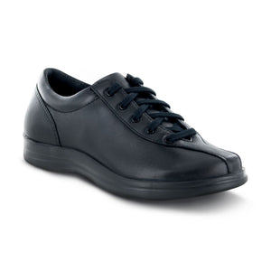 APEX PETALS - LIV - BLACK LEATHER LACE-UP Footwear APEX