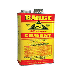 BARGE All-Purpose CEMENT Rubber Leather Shoe Waterproof Glue 1 Gallon Craft & Repair Barge