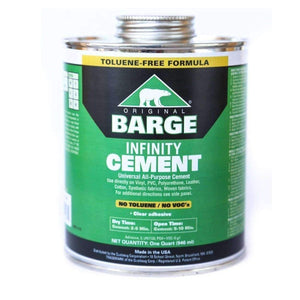 BARGE Infinity TF All-Purpose CEMENT Rubber Leather Shoe Glue 1 Qt (946 ml) Craft & Repair Barge