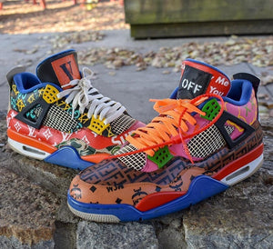 """Battle Of The Brands 4s"" Custom Jordans Footwear Nike"