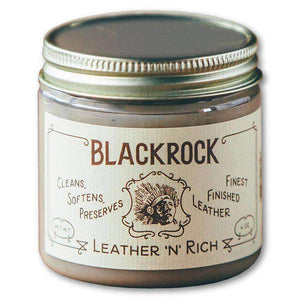 BlackRock Leather 'N' Rich Cleaner, Conditioner and Protector - 4 oz Shoe & Leather Care Blackrock