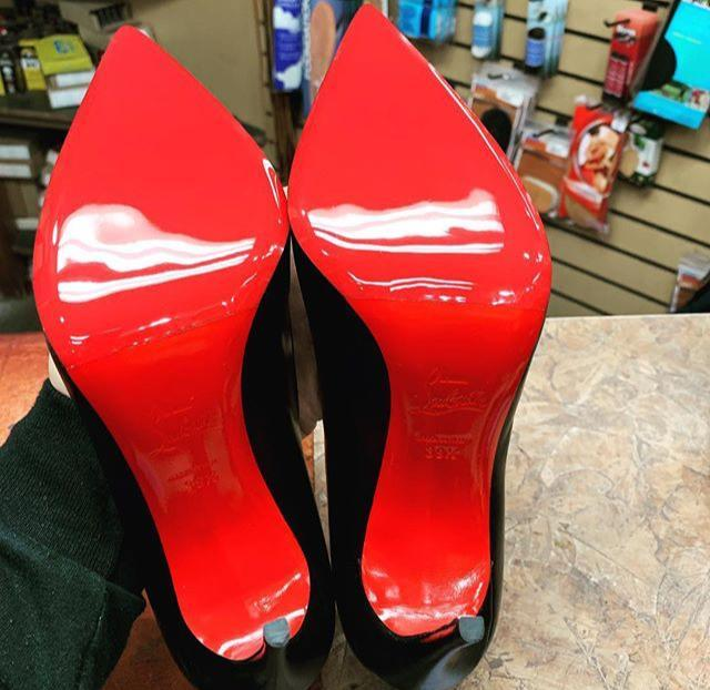 tout neuf b42e4 6da45 Casali Christian Louboutin Italian Mirrored Red Soles Repair - One Pair