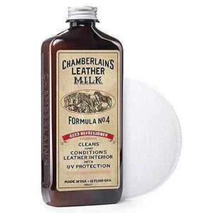 Chamberlain's Leather Milk Auto Refreshener Formula No. 4 Leather Conditioner Shoe & Leather Care Leather Milk 12 Ounces