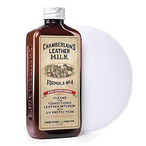 Chamberlain's Leather Milk Auto Refreshener Formula No. 4 Leather Conditioner Shoe & Leather Care Leather Milk 6 Ounces
