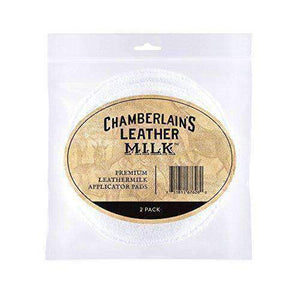 Chamberlain's Premium Leather Milk Applicator Pads - 2 Pack Shoe & Leather Care Leather Milk