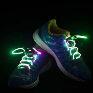 Colorful LED Tube Shoelaces - 1 Pair Shoe Accessories Magenta Coco
