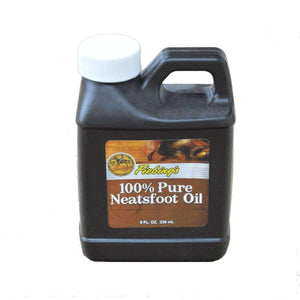 Fiebing's 100% Pure Neatsfoot Oil Natural Leather Preservative Waterproof 8 oz Shoe & Leather Care Fiebing's
