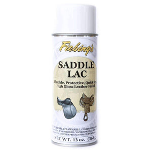 Fiebing's Saddle Lac Aerosol Spray Flexible Protective Leather Finish 13 oz Shoe & Leather Care Fiebing's