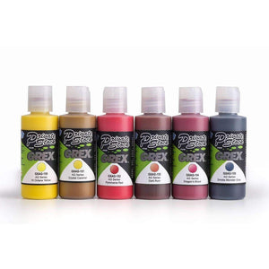 Grex Acrylic Airbrush Paint FIRE Color Set Airbrush Grex