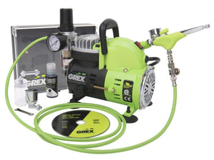 Grex Genesis XSi3 Airbrush Combo Kit w/ AC1810-A Compressor - GCK04 Paint & Dye, Craft & Repair Grex