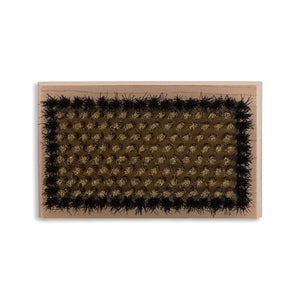 Heavy Duty Brass & Horsehair Bristle Napping and Cleaning Brush Craft & Repair,Shoe & Leather Care,Accessories LCS