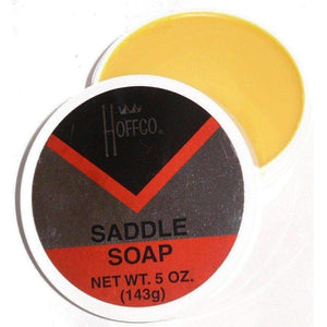 Hoffco Saddle Soap Leather Cleaner, Conditioner & Protector 5 oz Tub Shoe & Leather Care Harri Hoffmann Co.