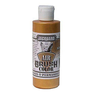 Jacquard Airbrush Color Paint 4 OZ Paint & Dye Jacquard Metal Solar Gold