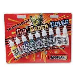 Jacquard Airbrush Color Sets Transparent Exciter Pack, 8-Colors Paint & Dye Jacquard