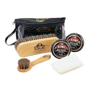 KIWI Deluxe MILITARY Shoe/Boot Shine Polish/Care Kit Valet 6 Piece Shoe & Leather Care Kiwi