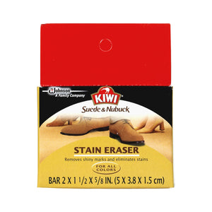 Kiwi Suede & Nubuck Cleaner Block - Stain & Shine Eraser Shoe & Leather Care Kiwi