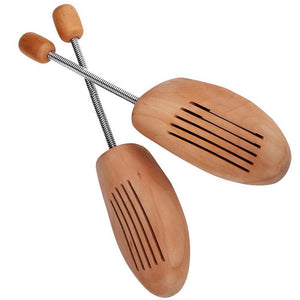 LCS Men's Wooden Spring Shoe Trees - One Pair Shoe Accessories LCS