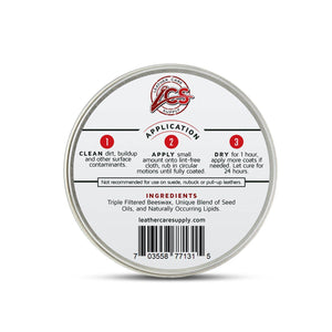 Leather Care Supply Leather Cream - Heels, Restores, Conditions & Protects - All Natural, Non-Toxic. Made in The USA. Accessories,Shoe & Leather Care LCS