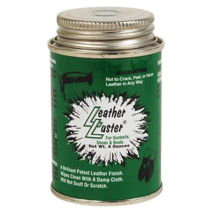 Leather Luster Hi Gloss Brilliant Patent Leather Finish w/Applicator 4oz - BLACK Shoe & Leather Care Leather Luster