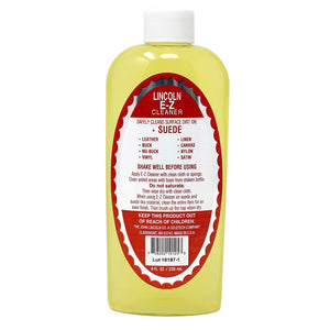 Lincoln E-Z Cleaner Suede Nubuck Satin Leather Nylon Fabric Shoe Cleaner 8 oz. Shoe & Leather Care Lincoln