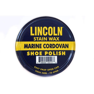 Lincoln Stain Wax Shoe Polish 3 oz Shoe & Leather Care Lincoln Marine Cordovan