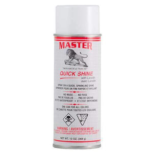 Master Quick w/Lanolin Shine Leather Shoe Boot Shine Spray - No Buff 13 oz. Shoe & Leather Care Master