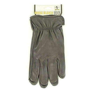 M&F Western H2110401 Men's HDX Deerskin Gloves, Black Apparel Accessories M&F Western Small
