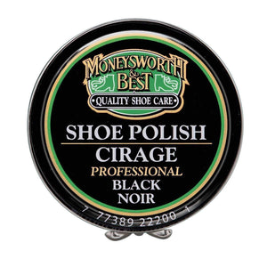 Moneysworth & Best Professional Wax Shoe/Boot Shine Polish Paste 2.5oz (70g) Shoe & Leather Care Moneysworth & Best Black