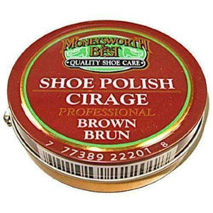 Moneysworth & Best Professional Wax Shoe/Boot Shine Polish Paste 2.5oz (70g) Shoe & Leather Care Moneysworth & Best Brown