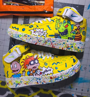 "Nike Air Force 1 ""Supreme"" x ""LV"" x RugRats - Hightop AF1 Custom Shoes Custom Made Nike"