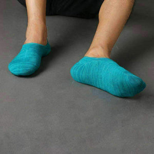 No-Show Invisible Slipper Socks 80% Soft Cotton w/Silicone Heel Accessories,Footwear LCS