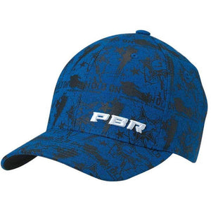 PBR Men's Hold On Flex Fit Cap Apparel Accessories Ariat Large/X-Large Blue