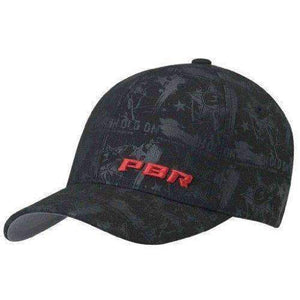PBR Men's Hold On Flex Fit Cap Apparel Accessories Ariat Medium Black